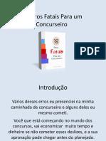 18ErrosFataisParaumConcurseiro
