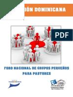 Programa Foro Nacional de Grupos Pequeños. Pastores-1