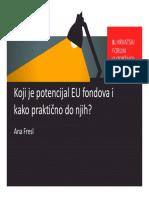 Koji Je Potencijal EU Fondova i Kako Prakticno Do Njih Ana Fresl