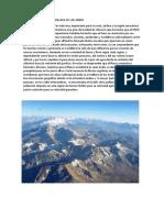Importancia de La Cordillera de Los Andes