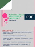 Particularităţile Anesteziei În Obstetrică