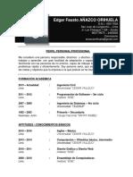 CV Edgar Añazco Orihuela