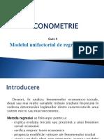 CURS 4 - Econometrie REI