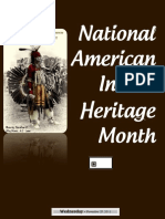 National Native American Indian Heritage Month