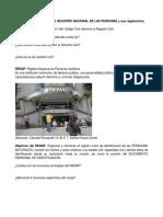 Resumen, Ley Renap-1