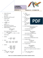 Álgebra - Semana # 1 - 3ro