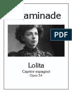 Lolita - Caprice Espagnol Op 54 Cecile Chaminade