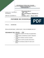 MATRICES -Informe de Investigación