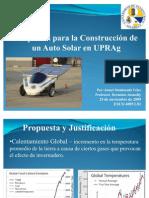 Propuesta de Auto Solar