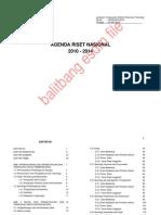 Agenda Riset Nasional 2010-2014