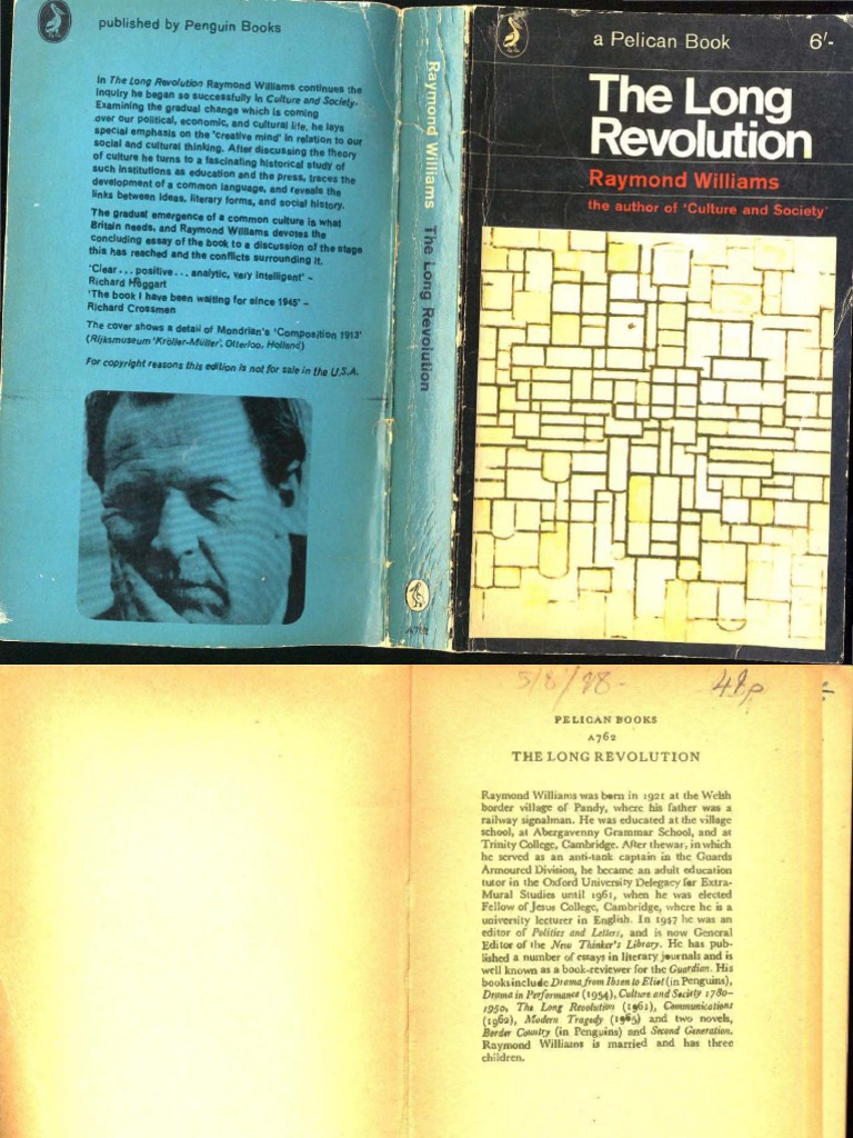 The long Revolution. Raymond Williams..pdf | Plato | Reality