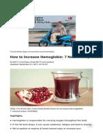 How to Increase Hemoglobin 7 Natural Ways 1620466