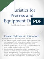 Lecture Heuristics Process&Equiment Design KC43104