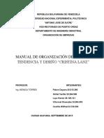 Informe de Cristina Lanz