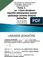02. PREDAVANJE Gaus-Jordanov Eliminacioni Metod (2)