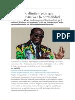 Mugabe No Dimite en Zambia