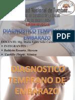 Diagnostico temprano de embarazo