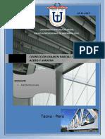 Corrección Examen Parcial i - Diseño en Acero y Madera