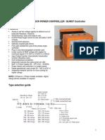 Satronix Datasheet Three Phase Digital SCR Proportional Controller