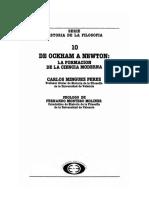 Minguez Perez Carlos - Historia de La Filosofia 10 - De Ockham a Newton