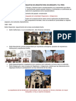Tendencias Nacionalistas de Arquitectura en Arequipa y El Peru
