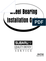Wheel Bearing Installation Guide