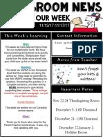 weekly newsletter  powerpoint  13-17