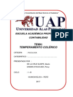 Temperamento Colerico Monografia Uap