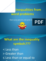 writing inequalities from word problems