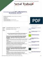 Convocatorias Contraloria Octubre 2017_ (200) Ingenieros, Economistas, Derecho - Portal Trabajo - Convocatorias 2017