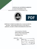 TESIS PAVIMENTOS Diseño de Pavimento Flexible de La Calle San Miguel- AREQUIPA