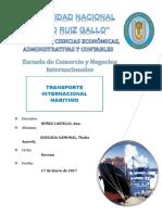 Trabajo de Investigacion Transporte Maritimo