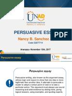 Persuasive essay - Nancy Sanchez.pptx