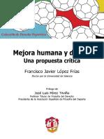 (Colección de derecho deportivo) López Frías, Francisco Javier-Mejora humana y dopaje _ una propuesta crítica-Reus (2015)