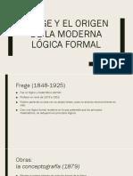 Frege y El Origen de La Moderna Lógica Pensadores de La Sospecha