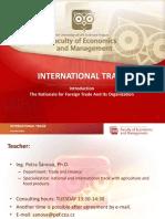 International Trade 2016-17-18