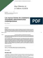 Las Nuevas Formas de Ciudadanía en Las Sociedades Latinoamericanas Contemporáneas