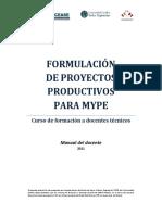 Formulación de Proyectos Productivos Para MYPE