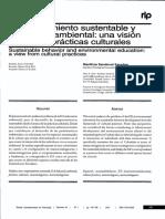 Escobar - 2012 - Comportamiento Sustentabie y Educación Ambiental Una Visión Desde Las Prácticas Culturales-Annotated