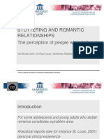 5010 Stuttering and Romantic Relationships the Perception of People Who Stutter
