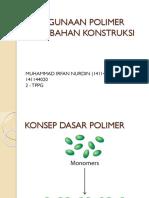Penggunaan Polimer Pada Bahan Konstruksi