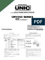 Parts Catalog UR v 550 Series