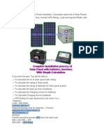 A Complete Note on Solar Panel Installation