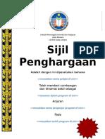 contoh sijil penghargaan