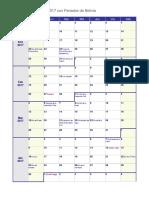 Calendario Semanal 2017 Bolivia