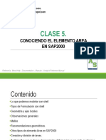SSDC-Clase 5- Elemento Area en SAP2000