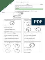 Prueba de Matemática, La Hora 3º