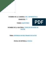 Sistemas de Multibase de Datos