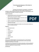 Diplomado en Neurodesarrollo Pedagogía y Dificultades de Aprendizaje