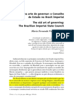 A Velha Arte de Governar - o Conselho de Estado No Brasil Imperial